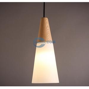 Wooden glass pendant lamp