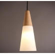 Wooden glass pendant lamp