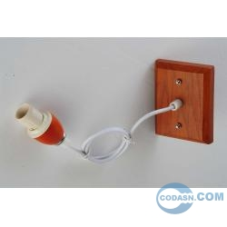E27 wood pendant with lamp holder