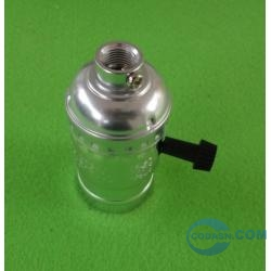 E26 metal lampholder with switch