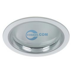 Horizontal recessed down light fixture