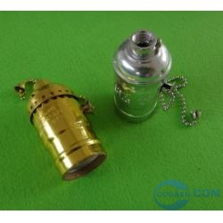 E26 metal lamp socket with switch