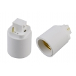 G24 2 pin to E27 lamp holder adapter