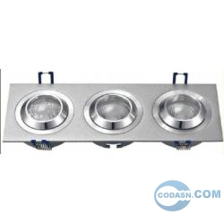 Pure aluminium halogen downlight fixture