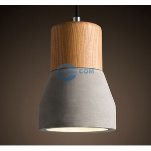 wooden cement pendant lamp