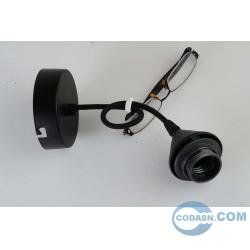 E27 pendant lamp holder black